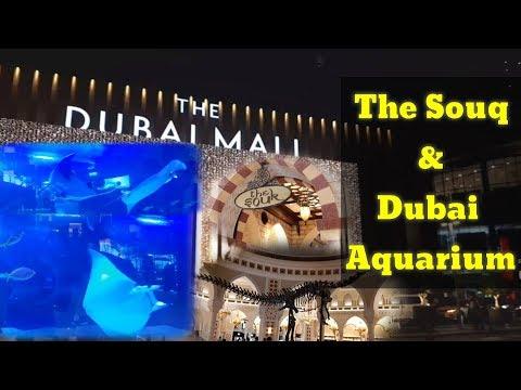 The Dubai Mall l Dubai Aquarium and The Souk