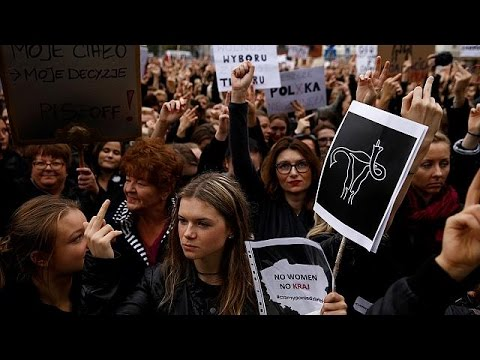 Polish women protest over planned abortion law