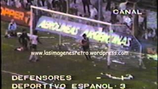 Deportivo Español campeón Primera B 1984