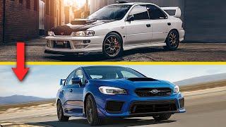The Evolution of the Subaru Impreza WRX