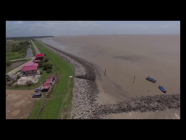 Aerial Shots Suriname Nickerie Zeedijk