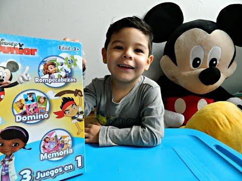 Juegos 3 en 1 de DISNEY JUNIOR - Mickey, Princesita Sofia, Doctora Juguetes y Jake y los Piratas