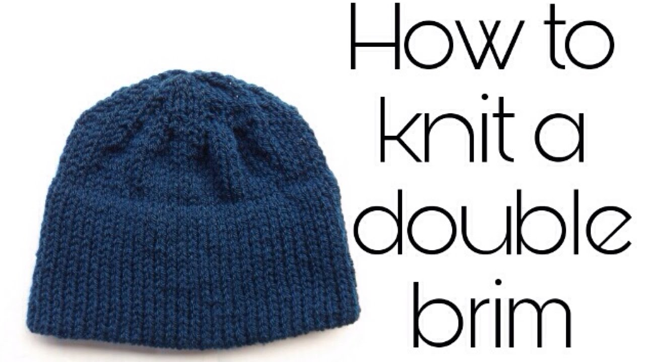 How to knit a double brim - YouTube 70c9d4764ce