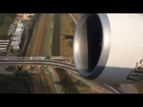 Emirates 777-300ER take-off Bangkok - Dubai J class