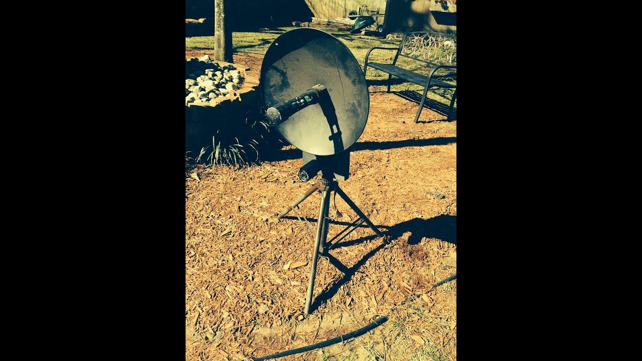 homemade parabolic dish - YouTube