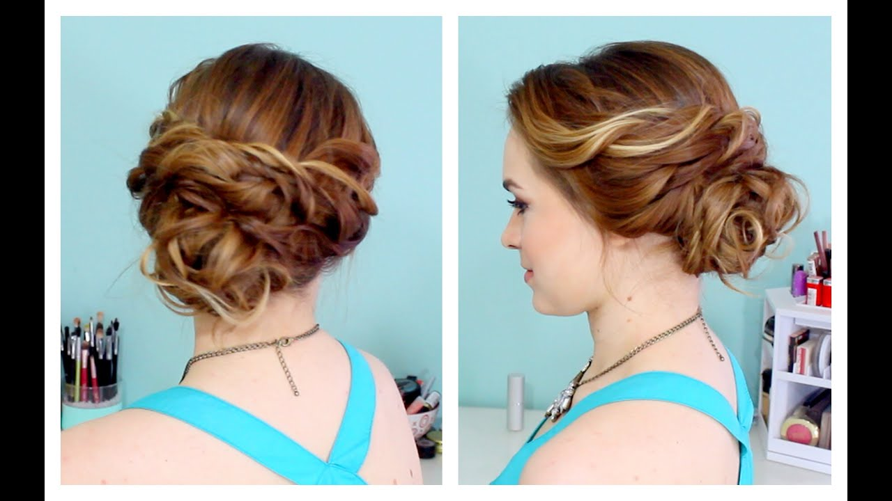 Quick Side Updo for Prom or Weddings D