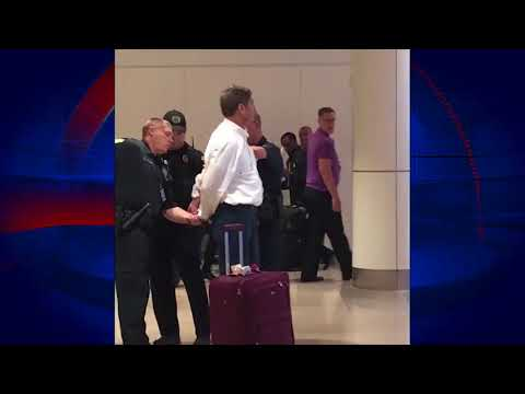 Doctor Rants During Airport Arrest in Orlando
