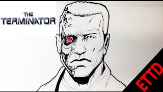 How to Draw the Terminator - Easy Things to Draw