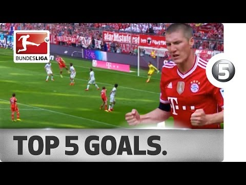 Top 5 Goals - Robben, Schweinsteiger And More With Great Strikes