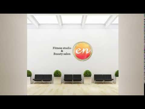 フィットネス&ビューティーサロンのロゴデザイン作成例