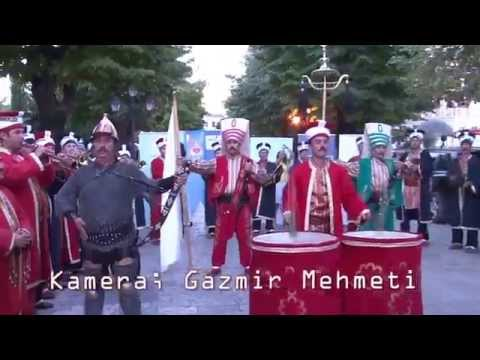 Ottoman Military band from Bursa of Turkey in Shkodra City in Albania