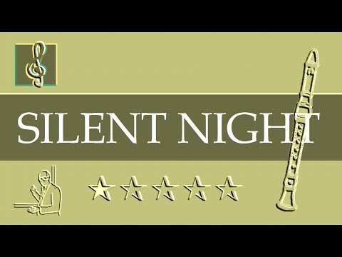 Recorder Notes Tutorial - Christmas song - Silent night (Sheet music - Guitar chords)