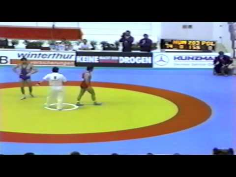 1991 Senior European Greco Championships: 74 kg Janos Takacs (HUN) vs. Poland