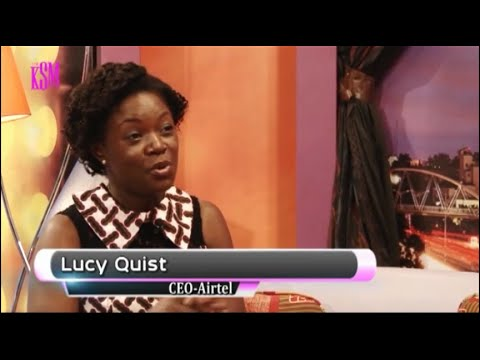 KSM Show- Lucy Quist, CEO of Airtel Ghana hanging out with KSM part 1