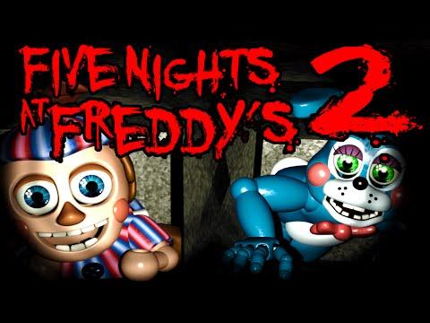 Five Nights at Freddy's 2 NIGHT 2 Balloon Boy Vent BB Foxy Flash Horror BLIND Gameplay PART 2