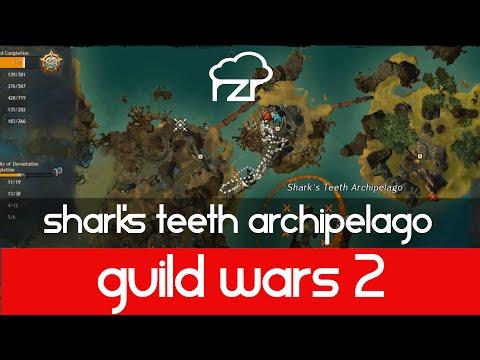 Guild Wars 2 Shark's Teeth Archipelago Vista and...