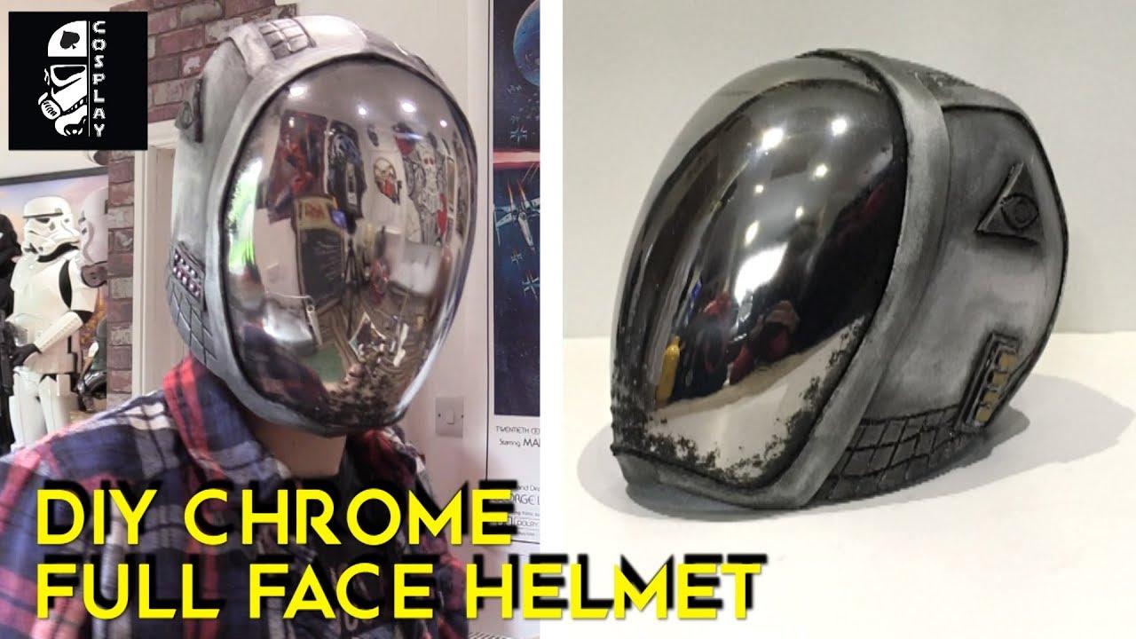 Diy Chrome Full Face Helmet Mysterio Build Part 1 Youtube