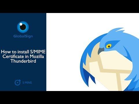 How To Install S/MIME Certificate In Mozilla Thunderbird