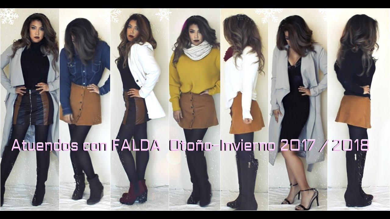 liberar información sobre Excelente calidad zapatillas 👢Atuendos con FALDA Otoño-Invierno 2017 / 2018 👗 (Outfits Fall-Winter  with Skirt) | auroramakeup