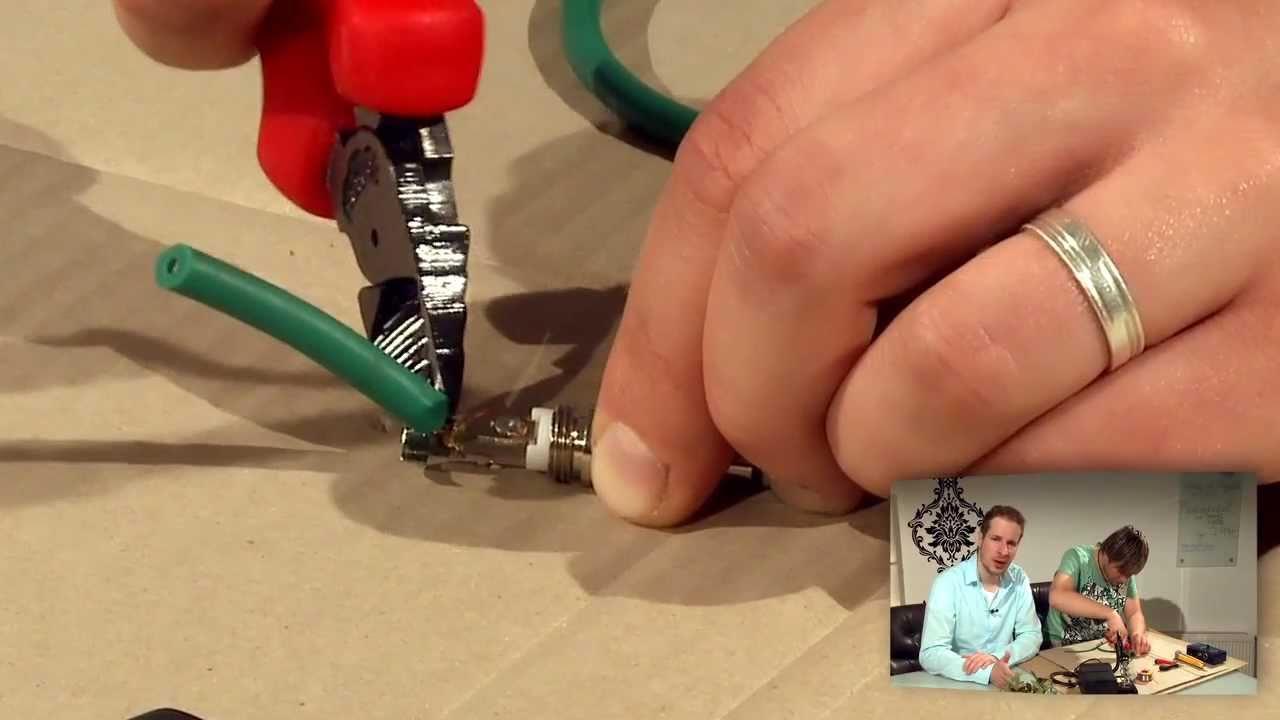 Kabel löten und reparieren - YouTube
