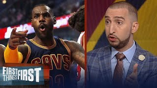 King Slayers: Nick Wright on LeBron's Cavs losing to Lillard's Blazers | FIRST THINGS FIRST