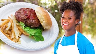 Kid Chef Makes the BEST Burger Ever!  | Top Chef Junior | Universal Kids
