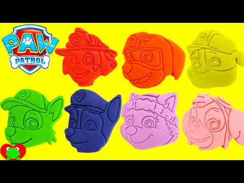 Paw Patrol Play Doh Surprises LEARN Colors with Magical Microwave