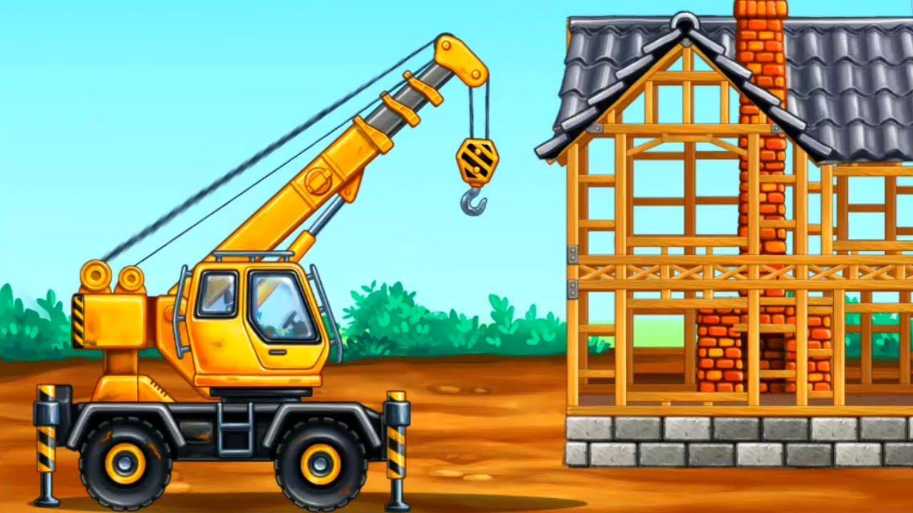 Картинка строящийся дом для детей