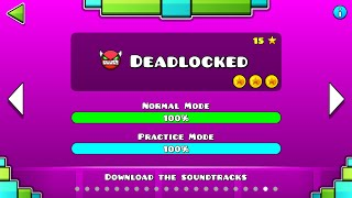 "Geometry Dash - ""Deadlocked"" 100% Complete [All Coins] - GuitarHeroStyles"
