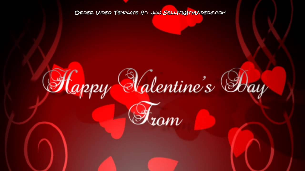 Valentines Day Greeting Video Template For Small Business - YouTube