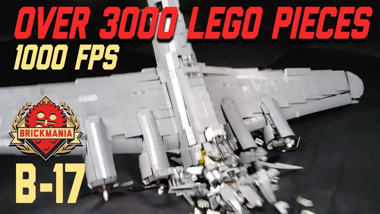 LEGO B 17 Dropped in Slow mo   Completely destroyed  DROP TEST     LEGO B 17 Dropped in Slow mo   Completely destroyed  DROP TEST