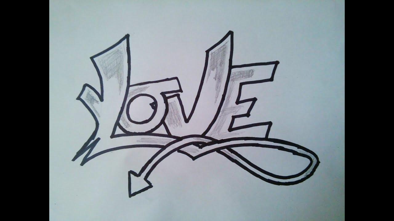 ''LOVE'' Kağıt Graffitisi(Paper Graffiti) - YouTube