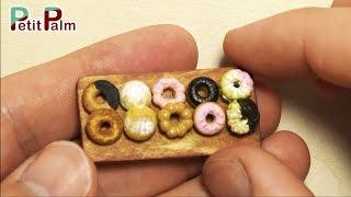 DIY How to make Miniature Donuts Tutorial - Petit Palm