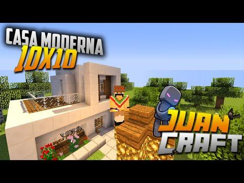 Minecraft i peque a casa moderna 10x10 doovi for Casa moderna minimalista interior 6m x 12 50 m