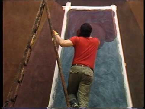 Sol LeWitt, Wall Drawings 1987, video Making of by Maurice Benayoun