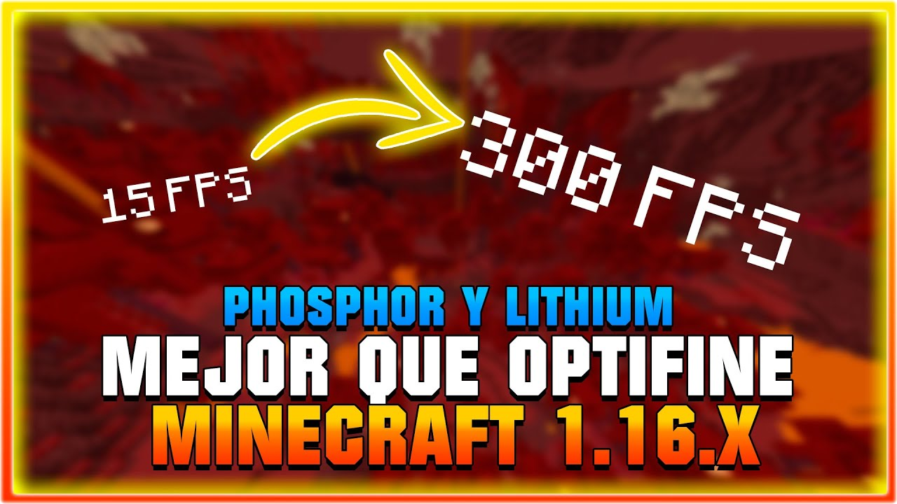 Como Instalar OPTIFINE Minecraft 1.16.1 - Lithium y Phosphor (MEJOR Alternativa de Optifine)