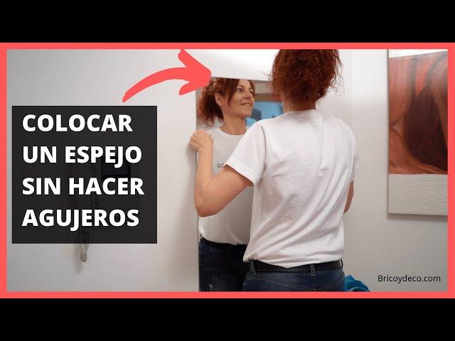 Colocar un Espejo SIN TALADRAR y Marco Hecho a Medida | Bricolaje Tutorial