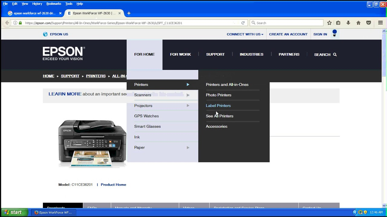 How To Download,Epson Workforce WF 2630 Printer,Driver