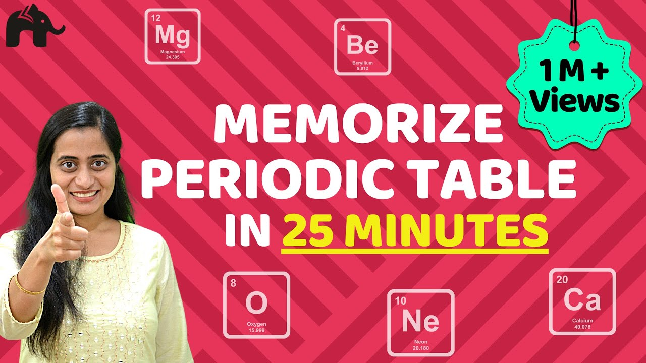 How to memorize periodic table easily with story in few for Periodic table 6 year old