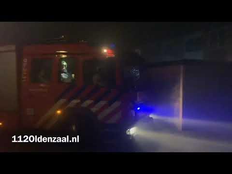 Uitslaande schuurbrand in Oldenzaal; Een persoon aangehouden