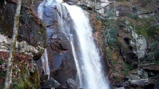 High Shoals Falls at South Mountains State Park, North Carolina