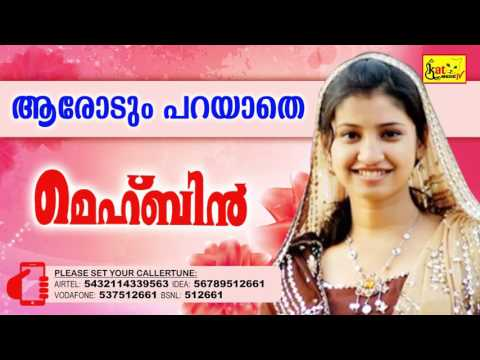 ആരോടും പറയാതെ | Hit Song Of Nasnin | MEHBIN | Super Hit Mappila Album | Nasnin