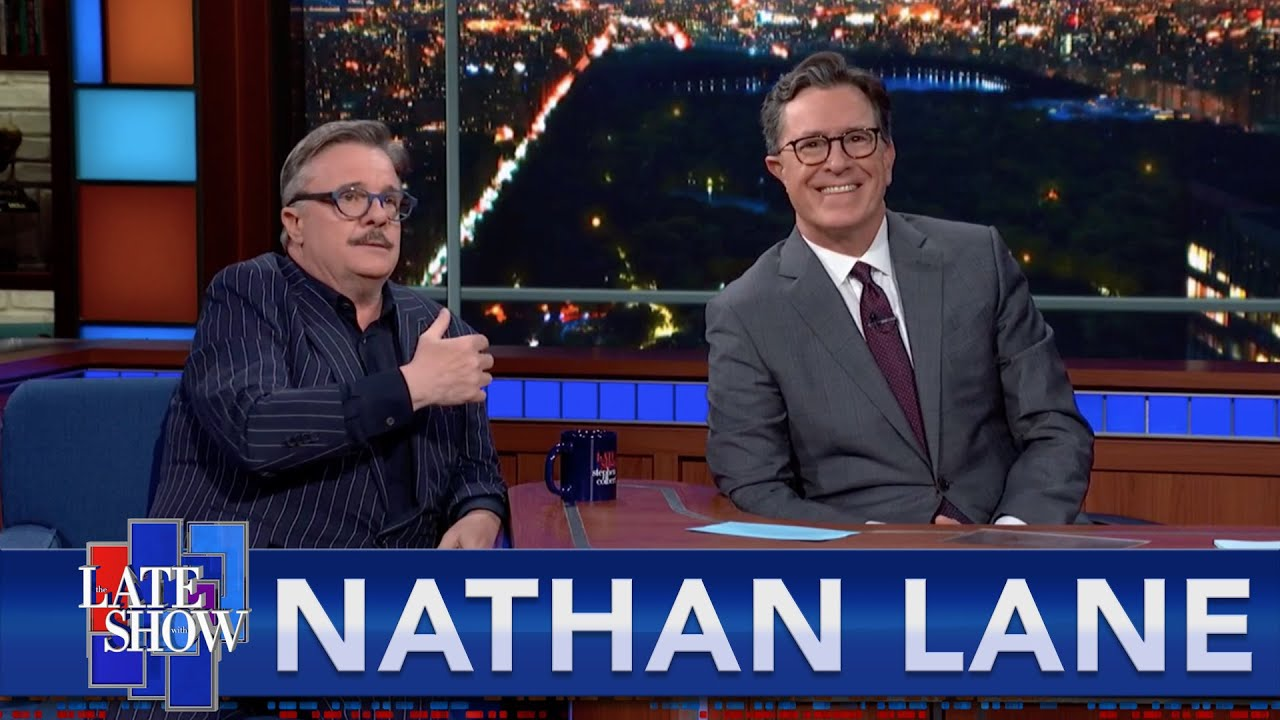 Download Nathan Lane Imagines Stephen's Audience Naked, And In The Shower