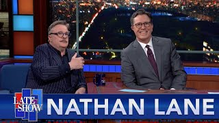 Nathan Lane Imagines Stephen's Audience Naked, And In The Shower