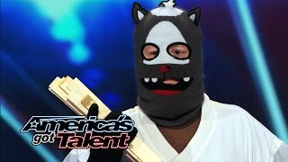 Dustin\'s Dojo: Howard Stern Uses Golden Buzzer on Karate Kid - America\'s Got Talent 2014 (Highlight)