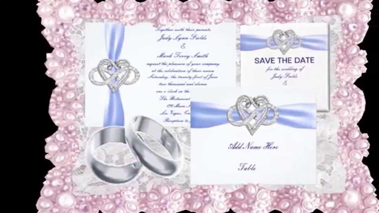 Infinity Heart Wedding Invitation Sets