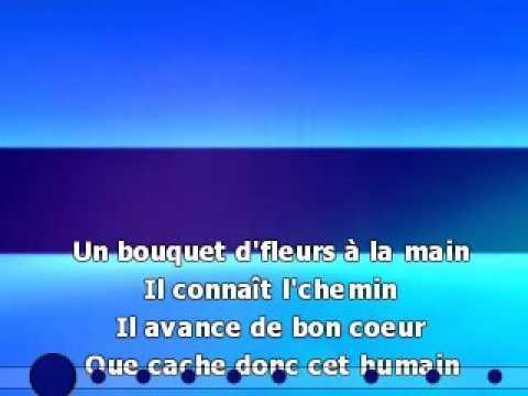 Maxime Leforestier L'homme au bouquet de fleurs karaoké - YouTube