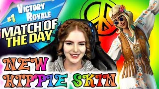 FUN WITH THE NEW HIPPIE SKIN - LOEYA playing FORTNITE BATTLE ROYALE