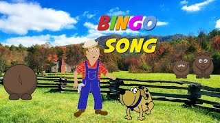 Bingo Song (instrumental nursery rhyme - lyrics video for karaoke)