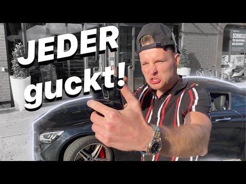 Klischee Auto Poser: im gemieteten AMG durch Düsseldorf | Mercedes GT Coupe